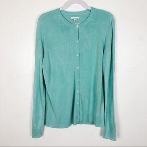 Croft & Barrow Blue Button Up Cardigan Sweater